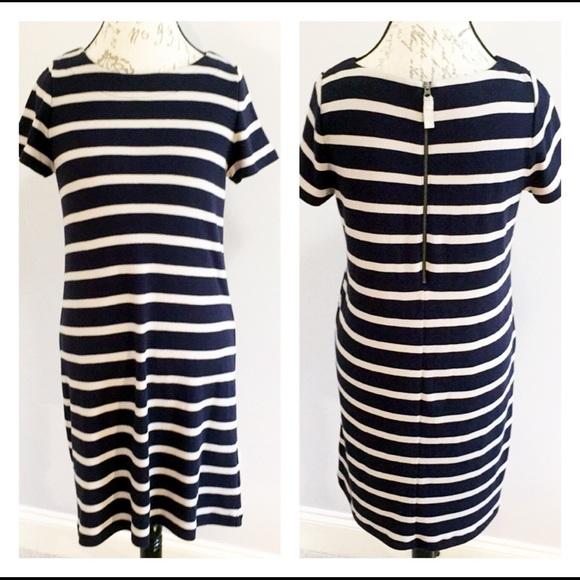 Talbots Dresses & Skirts - Talbots Petites Dress Navy/Beige MP